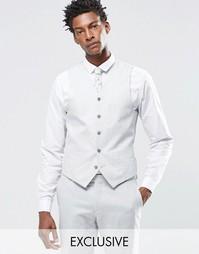 Светло-серый жилет из 55% льна Feraud Premium - Серый