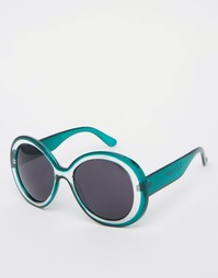 Большие круглые солнцезащитные очки AJ Morgan - Бирюзовый