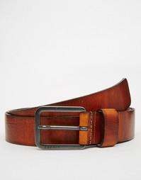 Кожаный ремень в винтажном стиле Esprit - Коричневый