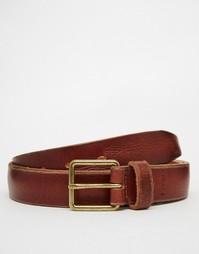 Узкий кожаный ремень Esprit - Коричневый