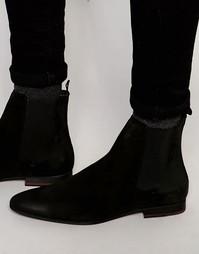 Замшевые ботинки челси Walk London - Черный