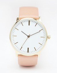 Часы на кожаном ремешке ASOS Premium - Телесный