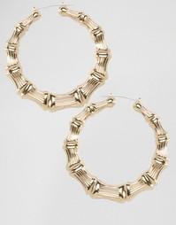 Массивные серьги-кольца Nylon - Золотой