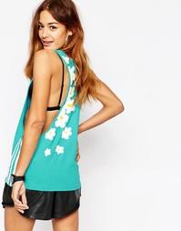 Майка с углубленной проймой и цветочным принтом Adidas Originals Pharr