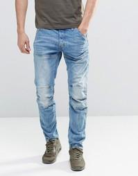 Светлые прямые джинсы с эффектом поношенности G-Star 3301