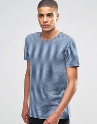 Темно-синяя футболка в бретонскую полоску Minimum - Midnight