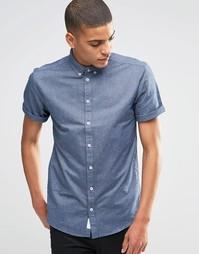 Оксфордская рубашка узкого кроя с короткими рукавами Minimum