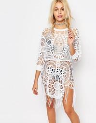 Ажурное платье с орнаментом Wildfox - Белый
