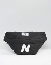 Черная сумка-кошелек на пояс New Balance Mellow - Синий
