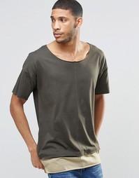 Длинная футболка ASOS - Хаки