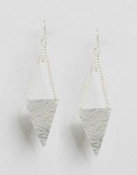 Серьги-подвески с треугольниками Made - Серебряный