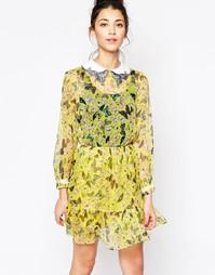 Платье с принтом бабочек Sister Jane Fantasia - Желтый