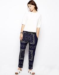 Шелковые брюки с принтом пейсли Baum und Pferdgarten Naira