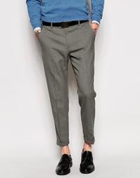 Зауженные укороченные брюки ASOS - Умеренный серый