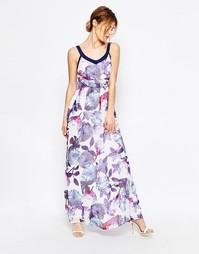 Платье макси с цветочным принтом Uttam Boutique - Синий