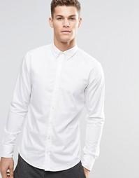 Белая зауженная рубашка на пуговицах BOSS Orange - Белый