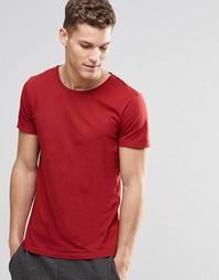 Красная футболка с круглым вырезом Boss Orange - Красный