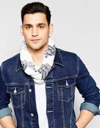 Трикотажный шарф-снуд в полоску Esprit - Серый