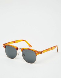 Солнцезащитные очки в стиле ретро с черепаховой оправой ASOS