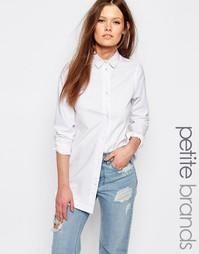 Джинсовая рубашка строгого кроя Waven Petite - Белый