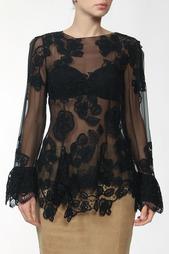 Блуза с кружевом Alberta Ferretti