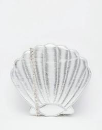 Серебристая сумка через плечо в форме ракушки Skinnydip Mermaid