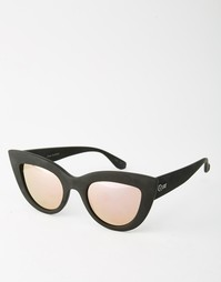 Зеркальные солнцезащитные очки кошачий глаз Quay Australia Kitti