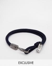 Веревочный браслет с крючком Icon Brand эксклюзивно для ASOS - Черный