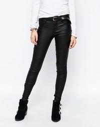 Байкерские джинсы скинни с покрытием Only Royal - Черный