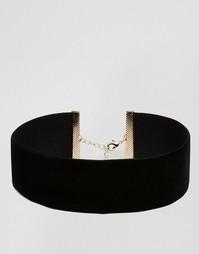 Короткое бархатное ожерелье ASOS NIGHT - Черный