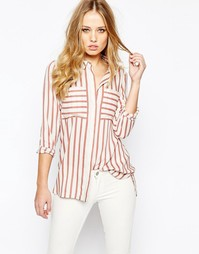 Рубашка в розовую полоску Y.A.S Past - Розовые полоски