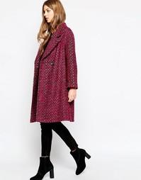 Пальто с застежкой на две пуговицы Helene Berman - Розовый