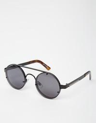Круглые солнцезащитные очки черного цвета Spitfire Lennon2 - Черный