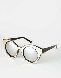 Круглые солнцезащитные очки с металлической отделкой и зеркальными сте Asos
