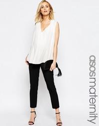 Укороченные брюки для беременных ASOS Maternity - Черный