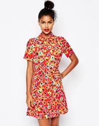 Платье-рубашка с принтом Sonia by Sonia Rykiel - Красный