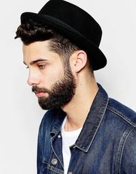 Черная фетровая шляпа с круглой тульей ASOS - Черный