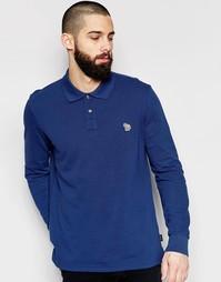 Поло с длинными рукавами и логотипом‑зеброй Paul Smith Jeans - Чернила