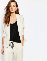 Кремовый строгий пиджак Sisley - Кремовый