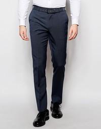 Синие эластичные брюки слим ASOS - Синий