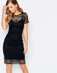 Темно-синее платье Body Frock Roxy - Синий