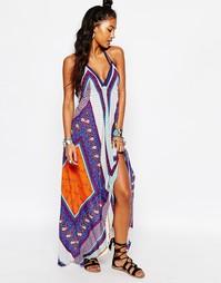 Пляжное платье макси с платочным принтом Surf Gypsy - Мульти