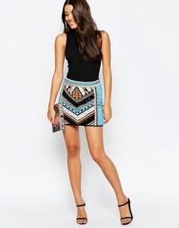 Мини‑юбка с ацтекским принтом ASOS - Мульти