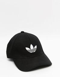Черная кепка с трилистником adidas Originals - Черный