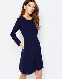 Короткое приталенное платье с рукавами‑колокол SELECTED BETH