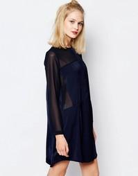 Платье-рубашка с прозрачными вставками Samsoe & Samsoe Hylte Samsøe &; Samsøe