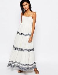 Платье макси с вышивкой Tularosa Blayke - Белый