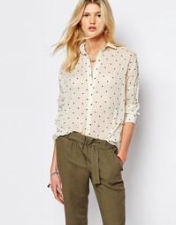 Кремовая рубашка в горошек Sessun - Кремовый