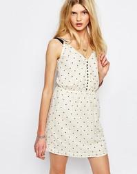 Кремовое платье мини в горошек Sessun - Кремовый
