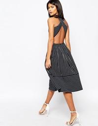 Приталенное платье миди с перекрестными планками на спине ASOS